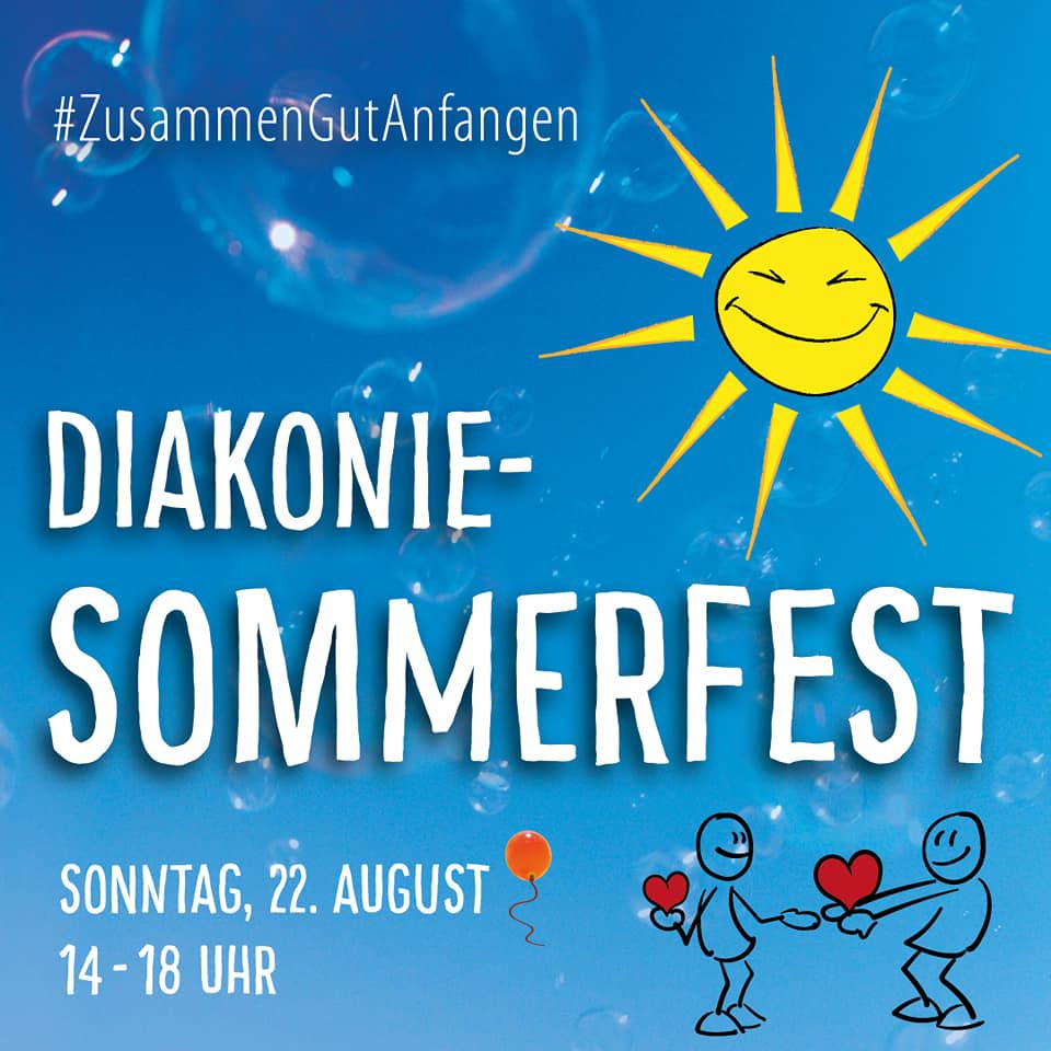 Plakat Diakonie-Sommerfest